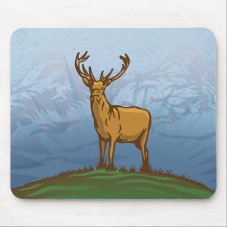 Highland stag mouse pad