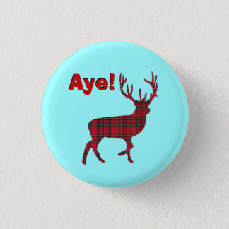 Highland Stag Scottish Independence Pinback 3 Cm Round Badge