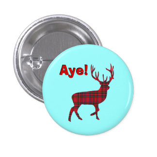 Highland Stag Scottish Independence Pinback Buttons