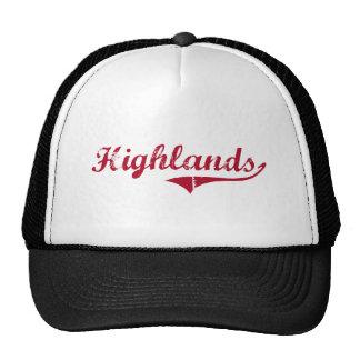 Highlands New Jersey Classic Design Trucker Hats