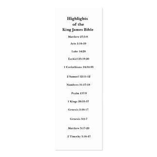 Highlights of the King James Bible Business Card