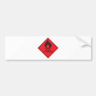 Highly Flammable Sign fire Bumper Sticker