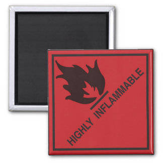Highly inflammable square magnet