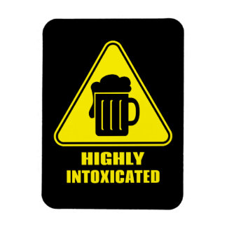 Highly Intoxicated Funny Drinking Rectangular Photo Magnet