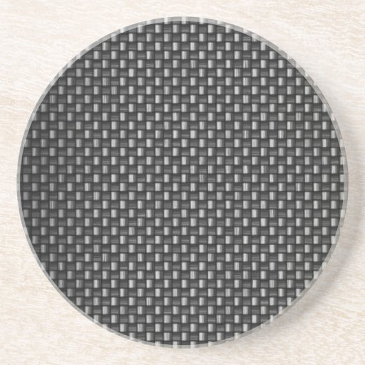 Highly Realistic Carbon Fiber Textured Drink Coasters