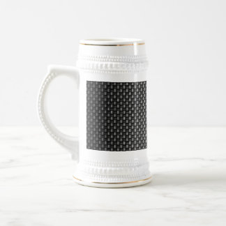 Highly Realistic Carbon Fiber Textured Coffee Mugs