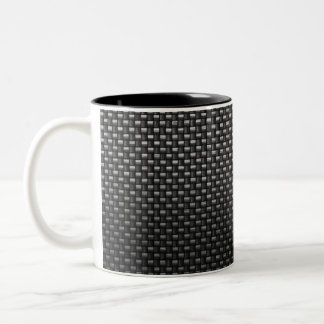 Highly Realistic Carbon Fiber Textured Mugs