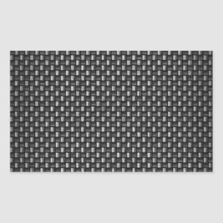 Highly Realistic Carbon Fiber Textured Rectangular Sticker