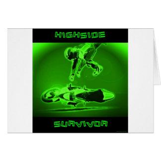 Highside Survivor Green Greeting Card