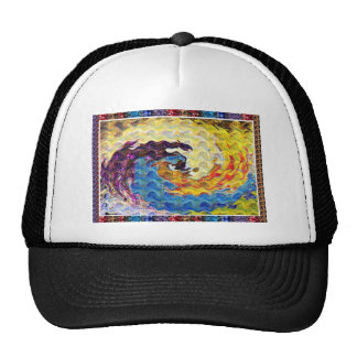 Hightide Waves Hurricane Season Cute Pretty Gifts Trucker Hats