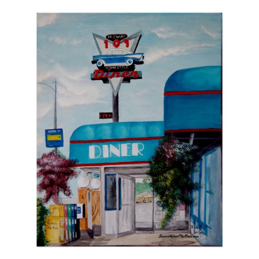 Highway 101 Diner Poster