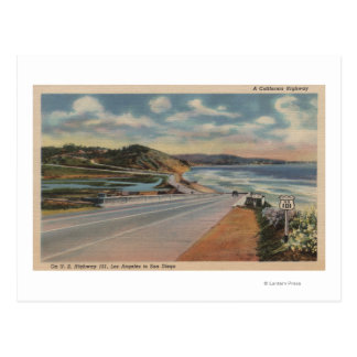 Highway 101 on the Coast of California ViewState Postcards
