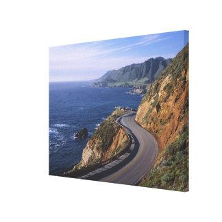 Highway 1 along the California Coast near Canvas Print