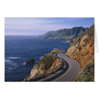 Highway 1 along the California Coast near Greeting Card