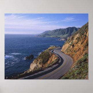 Highway 1 along the California Coast near Poster