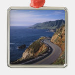 Highway 1 along the California Coast near Silver-Colored Square Decoration
