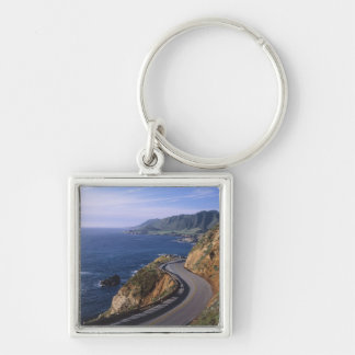 Highway 1 along the California Coast near Silver-Colored Square Key Ring