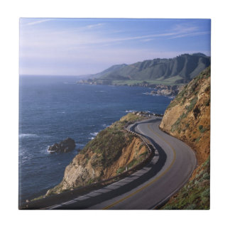 Highway 1 along the California Coast near Tile