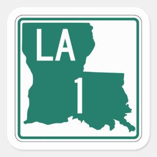 Highway 1, Louisiana, USA Square Sticker