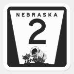 Highway 2, Nebraska, USA Square Sticker
