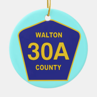 Highway 30A Walton County Florida sign Christmas Ornament