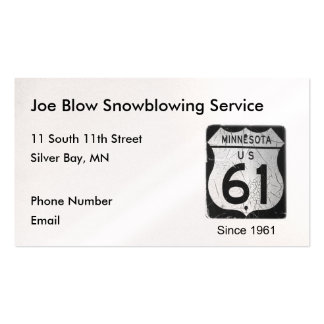 Highway 61 pack of standard business cards