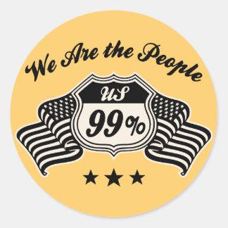 Highway 99% -bw round sticker