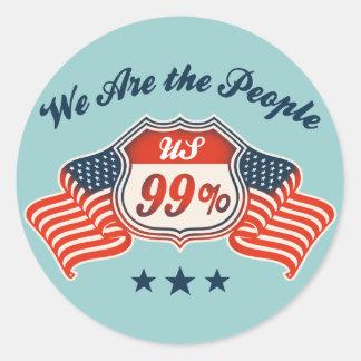 Highway 99% -col round sticker