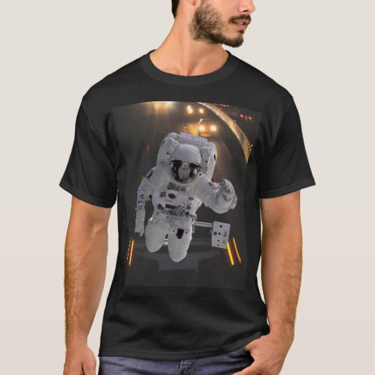 Highway Astronaut Explore Earth Black t-shirt