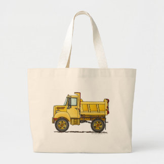 Highway Dump Truck Construction Bags/Totes Large Tote Bag