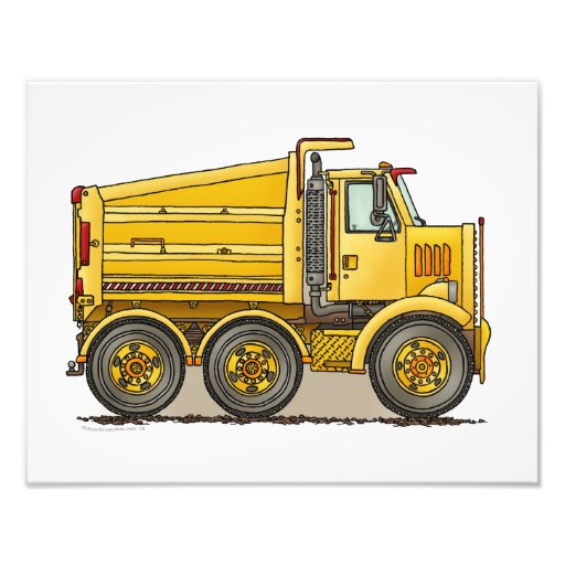 Highway Dump Truck Photo Art