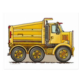 Highway Dump Truck Post Card