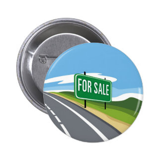 Highway for Sale 6 Cm Round Badge