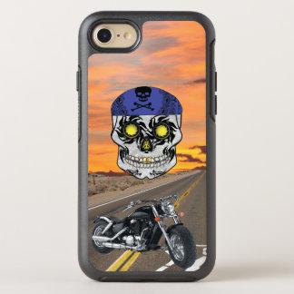 Highway Harley Biker Candy Skull phone Case
