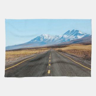 Highway landscape towels
