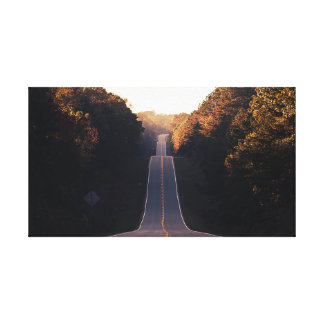 Highway near Mountain | Road | forest Canvas Print