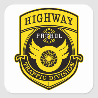 Highway Patrol Square Sticker