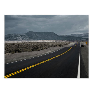 Highway Road - Wave Crests California Poster