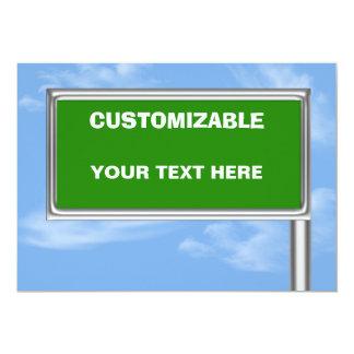Highway Sign Greeting - Custom Info Template Custom Invite