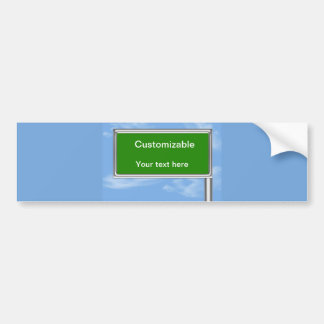Highway Sign Greeting - Customizable Bumper Sticker