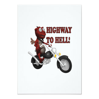 Highway To Hell 13 Cm X 18 Cm Invitation Card