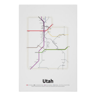 Highways of the USA - Utah Poster