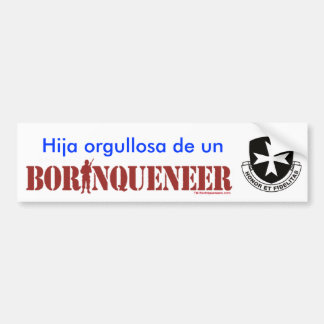 Hija Orgullosa - Bumper Sticker