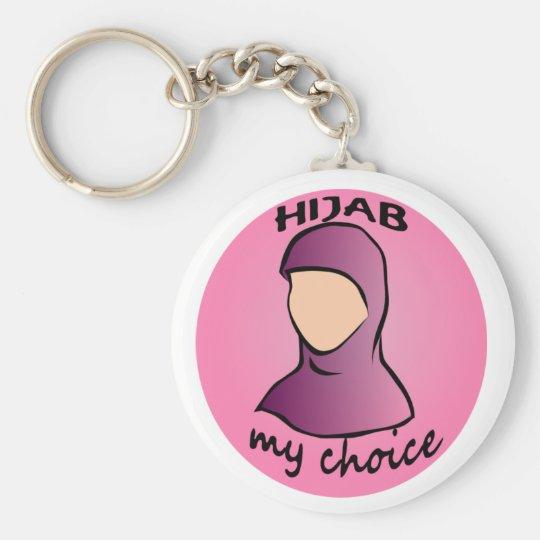 Hijab my choice keyring basic round button key