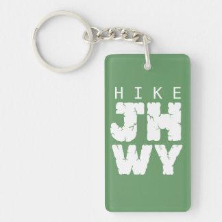 HIKE Jackson hole Single-Sided Rectangular Acrylic Key Ring
