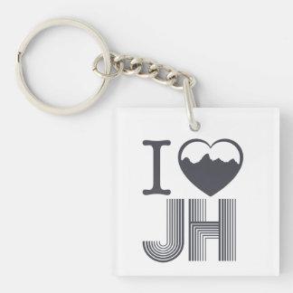 HIKE Jackson hole Single-Sided Square Acrylic Keychain