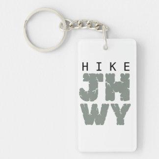 HIKE Jackson hole Single-Sided Rectangular Acrylic Keychain