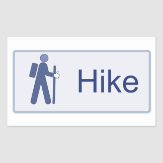 Hike Like Rectangular Sticker