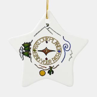 Hike Our Planet Hiker's Soul Compass Christmas Ornament