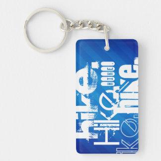 Hike; Royal Blue Stripes Rectangle Acrylic Key Chain